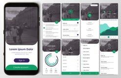Projeto da aplicação móvel, UI, UX, GUI Imagens de Stock Royalty Free