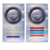Projeto da aplicação UI da segurança no fundo do metal Autorização da conta, relação para apps do móbil do écran sensível ilustração do vetor
