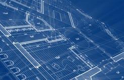 Projeto da arquitetura: plano do modelo - ilustração de um plano ilustração royalty free
