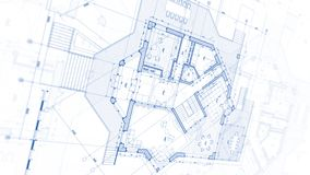 Projeto da arquitetura: plano do modelo - ilustração de uma modificação do plano imagem de stock