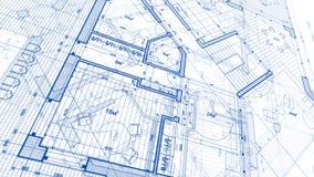 Projeto da arquitetura: plano do modelo - ilustração de uma modificação do plano foto de stock royalty free