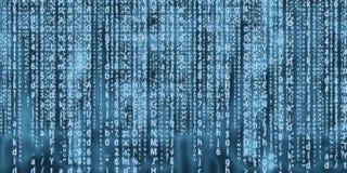 Projeto da arte do fundo da matriz do computador Dígitos na tela Dados gráficos do conceito do sumário, tecnologia, descriptograf fotos de stock