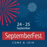 Projeto da bandeira da celebração de Septemberfest Imagem de Stock Royalty Free