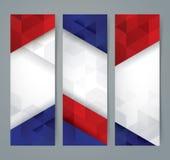 Projeto da bandeira da coleção Imagem de Stock