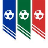 Projeto da bandeira do futebol Fotos de Stock Royalty Free