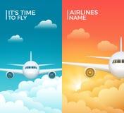 Projeto da bandeira do vetor do turismo do avião do curso Fundo das férias da viagem do mundo Ilustração dos aviões ilustração royalty free