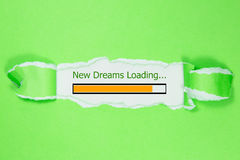 Projeto da barra do progresso, carregamento novo dos sonhos Foto de Stock Royalty Free