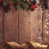 Projeto da beira do Natal Fotografia de Stock Royalty Free