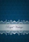 Projeto da beira do vintage. Ornamento do Flourish. P floral Imagens de Stock Royalty Free