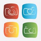 Projeto da câmera ilustração royalty free