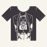 Projeto da cópia da camisa de T Fotografia de Stock Royalty Free