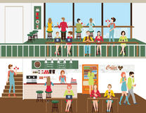 Projeto da cafetaria Ilustração do Vetor