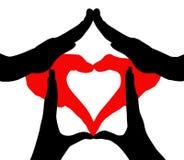Coração em casa Imagem de Stock