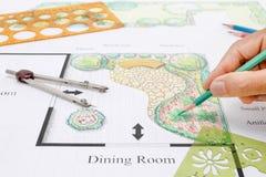 Projeto da casa do jardim do balcão Imagens de Stock Royalty Free
