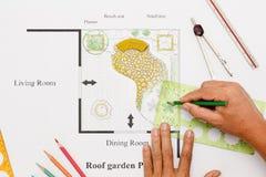 Projeto da casa do jardim do balcão Imagens de Stock