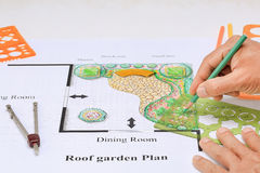Projeto da casa do jardim do balcão Foto de Stock