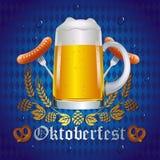 Projeto da celebração de Oktoberfest Fotografia de Stock Royalty Free