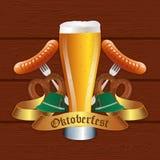Projeto da celebração de Oktoberfest Imagem de Stock Royalty Free