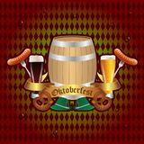 Projeto da celebração de Oktoberfest Fotografia de Stock