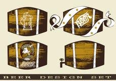 Projeto da cerveja ajustado com tambor Imagem de Stock