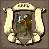 Projeto da cerveja com feiticeiros da árvore Imagem de Stock Royalty Free
