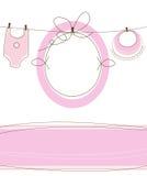 Projeto da chegada do bebé ilustração stock