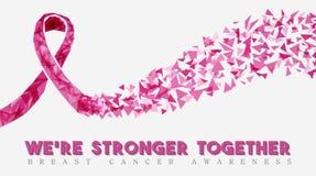Projeto da conscientização do câncer da mama para o apoio das mulheres ilustração do vetor