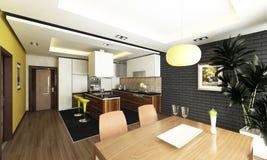 Projeto da cozinha Fotografia de Stock Royalty Free