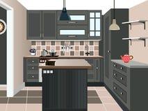 Projeto da cozinha Foto de Stock