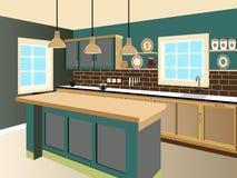 Projeto da cozinha Fotos de Stock