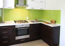 Projeto da cozinha doméstica Foto de Stock