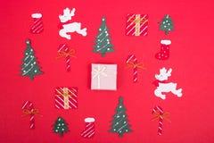 Projeto da decoração no feriado do Natal fotografia de stock royalty free