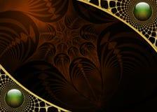 Projeto da disposição do fractal do fundo da foto Imagem de Stock