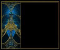 Projeto da disposição do fractal do fundo da foto Foto de Stock Royalty Free