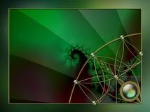 Projeto da disposição do fractal do fundo da foto Imagens de Stock Royalty Free
