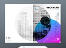 Projeto da disposição do molde do folheto Informe anual da empresa, catálogo, compartimento, folheto, modelo do inseto creativo ilustração do vetor