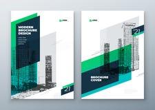 Projeto da disposição do molde do folheto Informe anual da empresa, catálogo, compartimento, folheto, modelo do inseto creativo ilustração royalty free