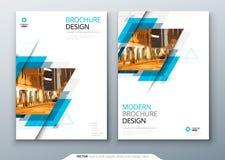Projeto da disposição do molde do folheto Informe anual da empresa, catálogo, compartimento, modelo do inseto Moderno criativo ilustração stock