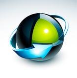 Projeto da esfera ilustração do vetor