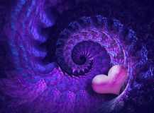Projeto da espiral do Valentim Fotografia de Stock