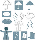 Projeto da estação das chuvas Imagens de Stock Royalty Free