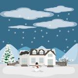 Projeto da estação do inverno ilustração do vetor