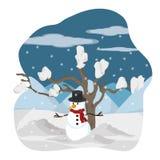 Projeto da estação do inverno ilustração royalty free
