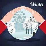 Projeto da estação do inverno Fotografia de Stock Royalty Free