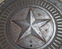 Projeto da estrela no metal imagens de stock royalty free