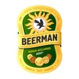 Projeto da etiqueta da cerveja ilustração royalty free