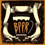 Projeto da etiqueta da cerveja Imagens de Stock