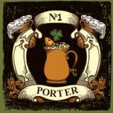 Projeto da etiqueta da cerveja Fotografia de Stock