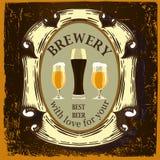 Projeto da etiqueta da cerveja Imagens de Stock Royalty Free