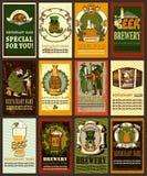 Projeto da etiqueta da cerveja para o dia de St Patrick Fotos de Stock